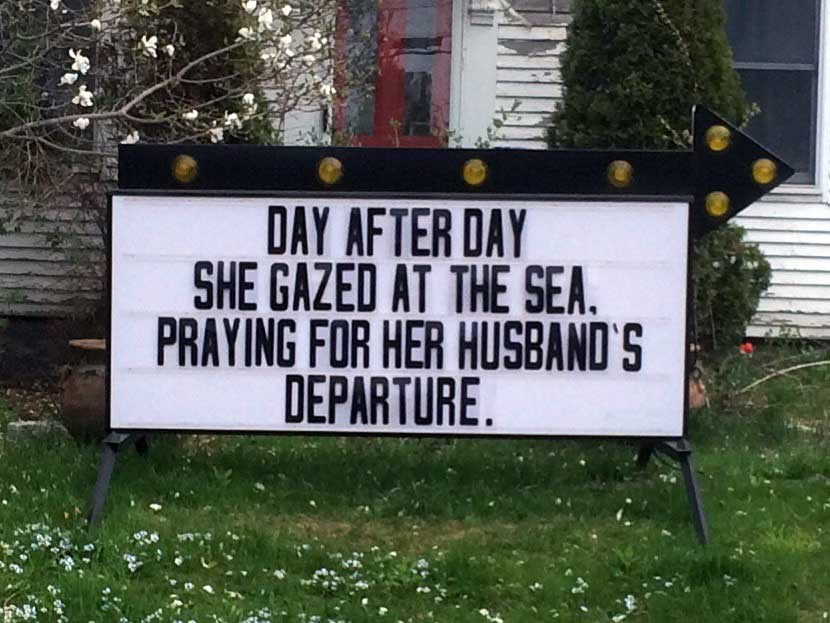 day after day she gazed at the sea river road