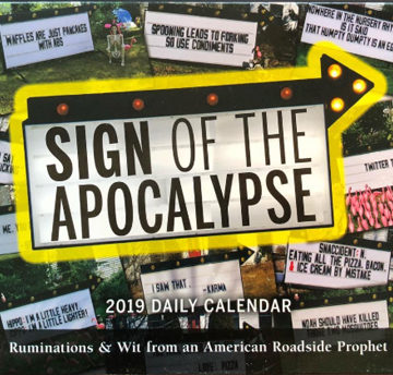 desk calendar 2019 sign of the apocalypse cover